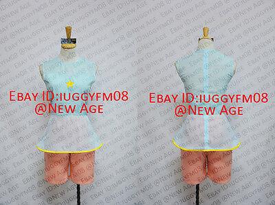 Steven Universe Pearl Cosplay Costume Vest Shorts Star Blue