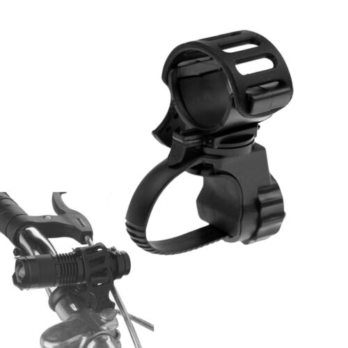 2Pcs Fahrrad LED Taschenlampe Halterung 360 ° Rotation Radfahren Clip Clamp