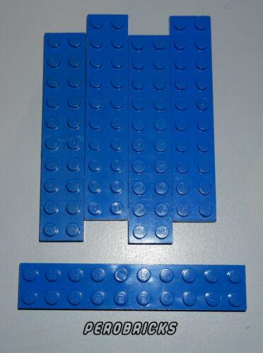 Lego Basic Technik Technic 5 Platten 2x10 #3832 blau