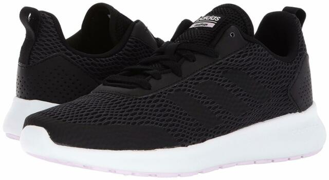 finest selection 65f9a 86509 Adidas Womens 8.5 Running Shoes Element Race Cloudfoam Black Sneakers  DB1481 New
