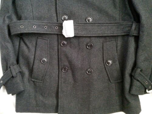 Belted Homme Dark Grey Selected Coat Xl Double Trench Bleecker Wool breasted fwdxq0
