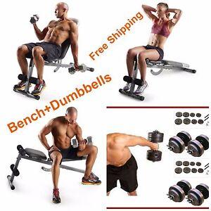 Home Gym Fitness Abdominal Six Pack Slant Bench Dumbbells