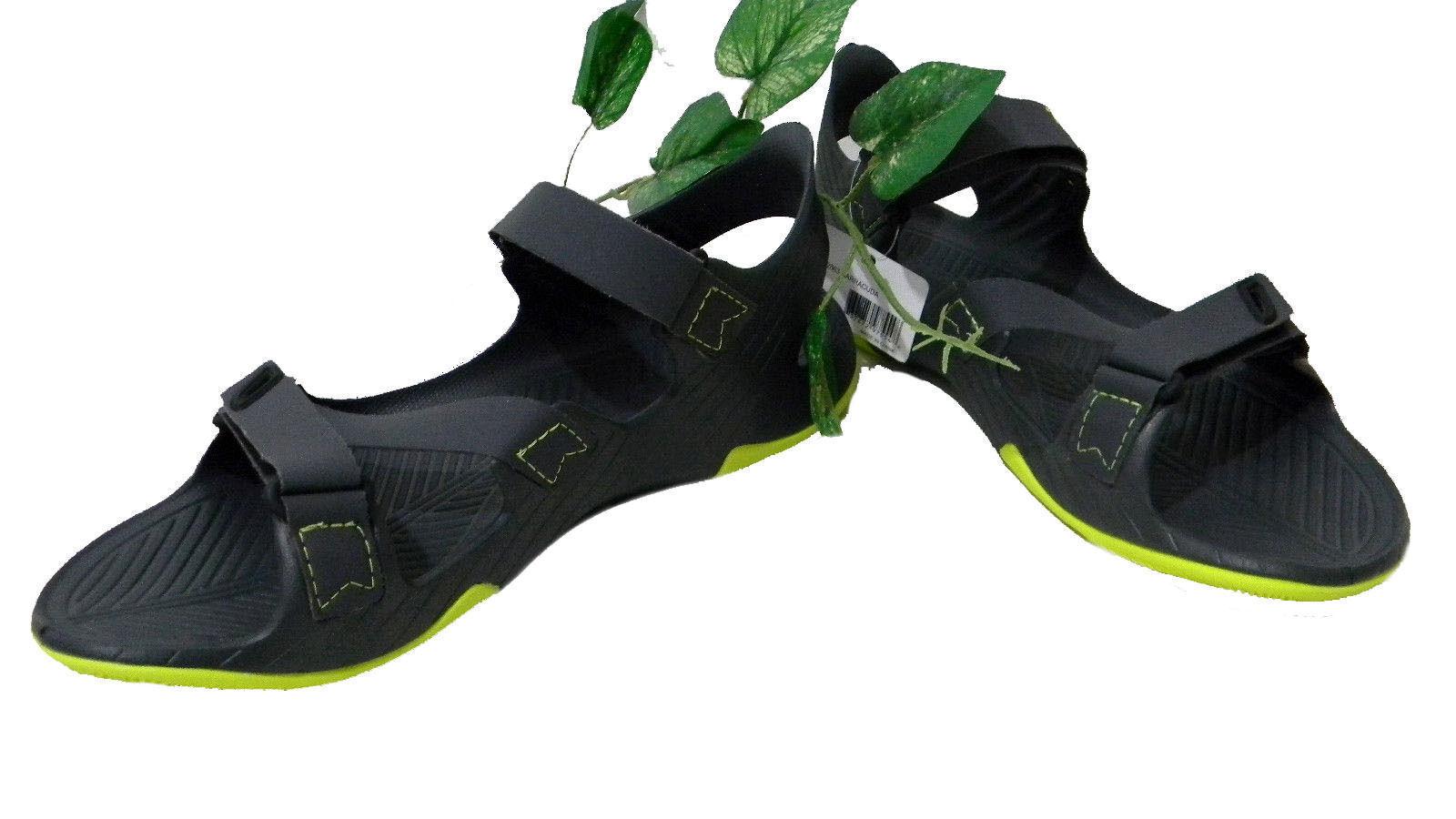 TEVA Hombre gris Oscuro Zapatos Sandalias Chanclas Amarillo correas de tamaño 12 Nuevo