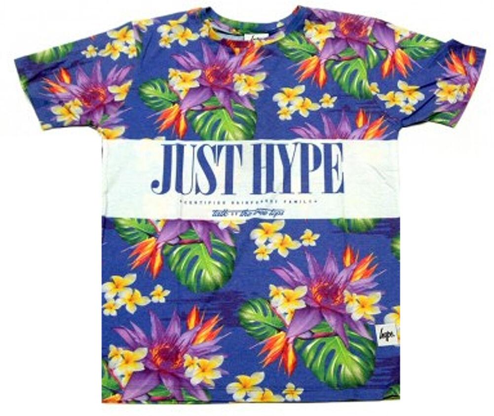 Hype Treetops Flowers Tee T Shirt Mens Sublimated T-Shirts Herren M L XL XXL New  | Lebhaft und liebenswert  | Starke Hitze- und Hitzebeständigkeit  | Bekannt für seine hervorragende Qualität