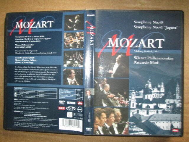 DVD - Mozart, Wolfgang Amadeus - Symphonien Nr.40, Nr. 41, Divertimento D-Dur
