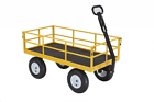 """Gorilla Carts Heavy-Duty Steel Utility Cart with Removable Sides and 13"""""""" Tires"""