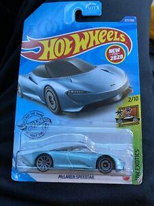 Light Blue McLaren Speedtail DieCast Hothwheels 2020 HW Exotics 227//250