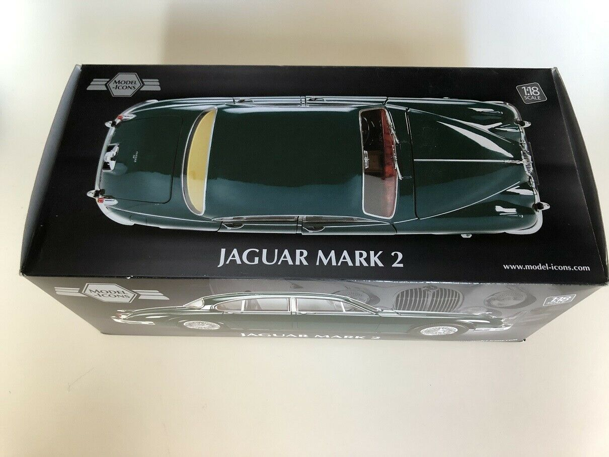 1 18 Modell Icons Jaguar MARK 2 Racing Grün
