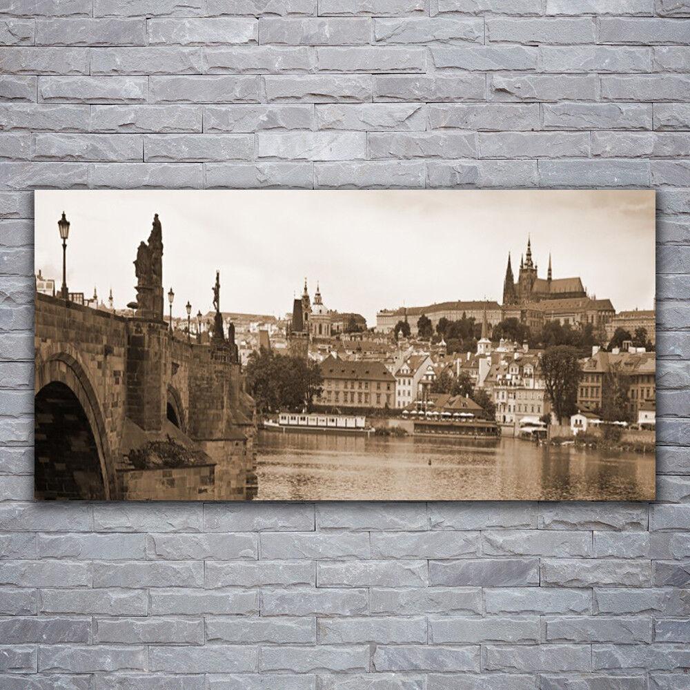 Verre Imprimer Wall Art Image 120x60 Photo Prague Pont Paysage