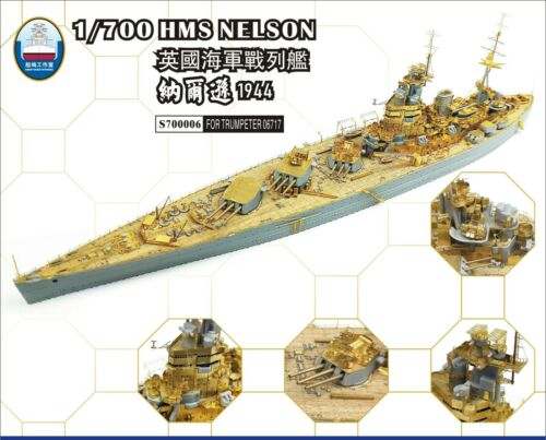 Shipyard S700006 1//700 Upgrade Parts for Trumpeter HMS Nelson