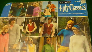 Patons-4-ply-classics-10-vintage-design-to-knit-sweater-hat-vest-Patons-Baldwin