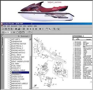 Details about YAMAHA WAVERUNNER Parts Manual CD '87-'01! - HI CLARITY!