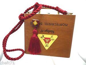 Details about MONTECRISTO SERIE V VINTAGE 97 25-No 4 44x5 Cigar box purse  red rope frog print d7f4e377af2ca