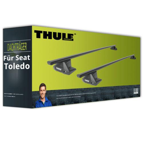 Dachträger Stahl Thule SquareBar EBA für Seat Toledo KG3 IV komplett inkl