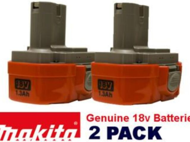 MAKITA  PA18 1.3AMP GENUINE  NICAD BATTERIES X 2 FOR 18V BRAND NEW