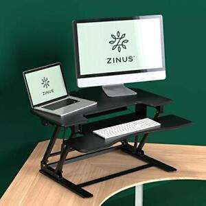 Zinus Betsy Smart Adjust Corner Standing Double Desk 36