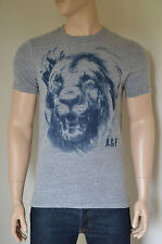 NEW Abercrombie & Fitch Bartlett Ridge Grey Vintage Lion Mascot Tee T-Shirt XXL