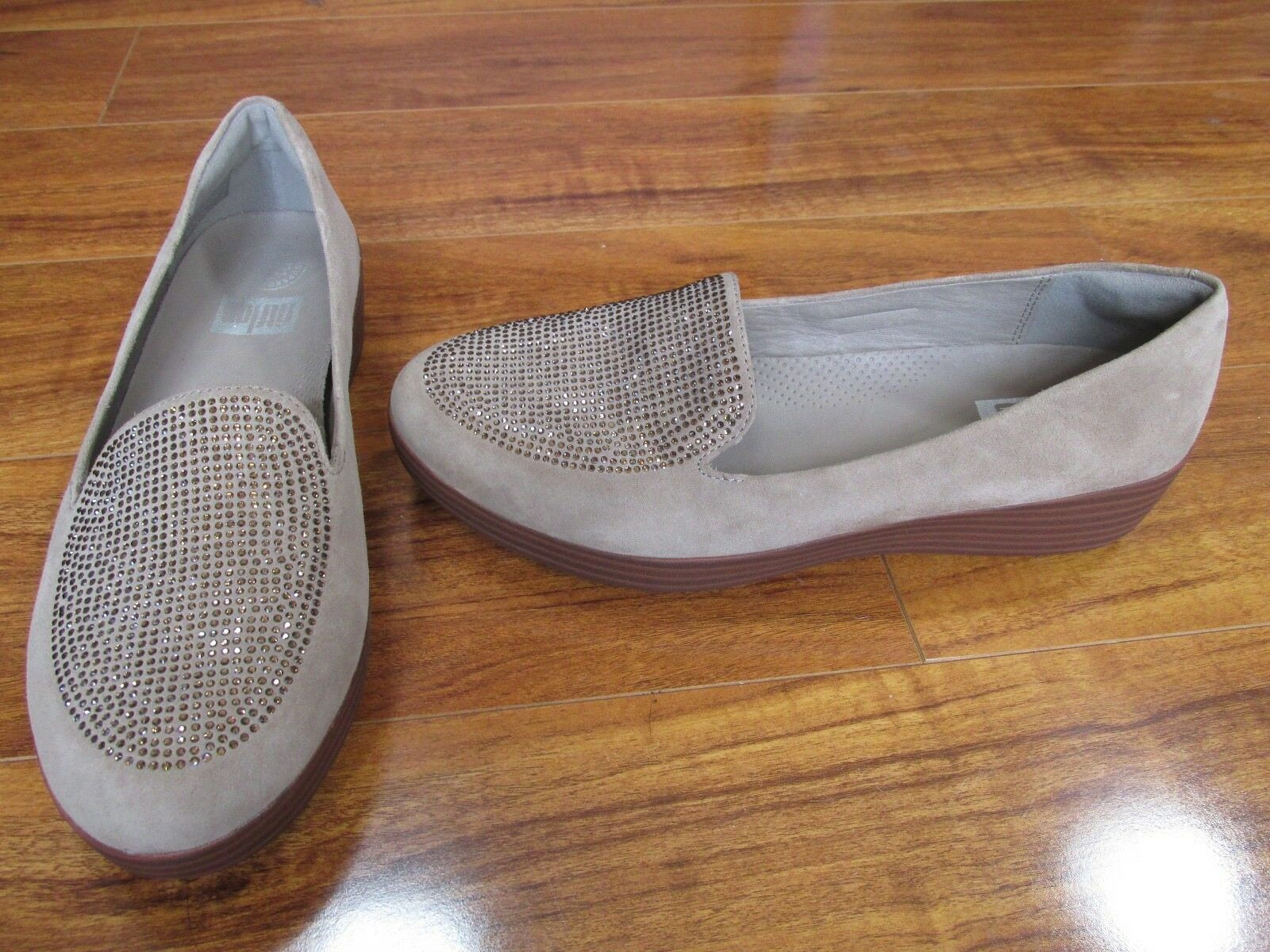 NEW FitFlop Sparkly Sneakerloafer 11 Slip-On Schuhes Damenschuhe SZ 11 Sneakerloafer Desert Stone b3a42a