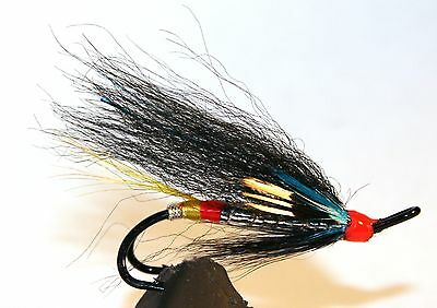 Pick a size Haugur Salmon Fly Fly Fishing Fly 3-pack Double Hook.