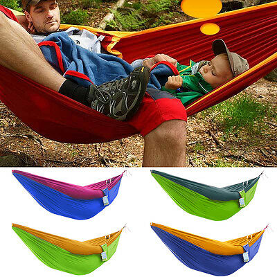 Ultralight Parachute Cloth In/Outdoor Breathable Adult Kids Hammock Swing Beds
