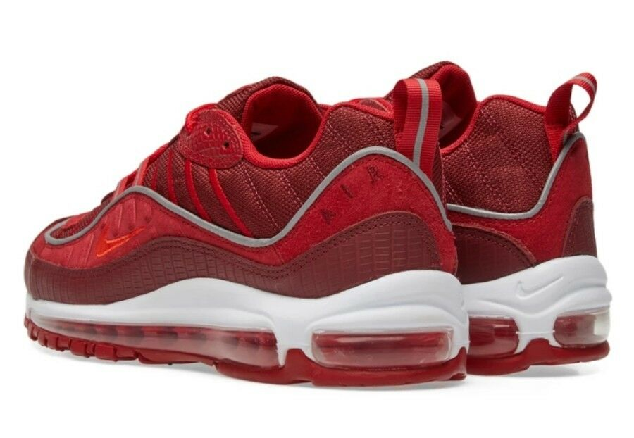 newest b9446 a6f17 ... Nike Air Max 98 SE Pointure Pointure Pointure 10 Gym Red & White  Genuine Baskets Homme ...