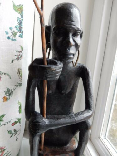 AFRICAN TRIBAL FIGURE 20TH c Ex Country house Ethnographic Collection LARGE