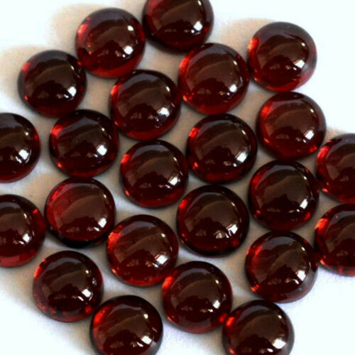 GTL CERTIFIED 4x4mm to 11x11mm Round Natural Garnet Cabochon Loose Gemstone Lot