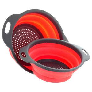 Kitchen-Foldable-Colander-Fruit-Vegetable-Washing-Basket-Strainer-Tool-Bowl-WE