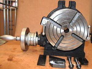 Soba di precisione tavolo rotante hv6 per fresatrice c morsetto kit ebay - Meccanismo rotante per tavolo ...