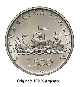 500-lire-in-Argento-Caravelle-039-58-039-59-039-60-tutte-miste