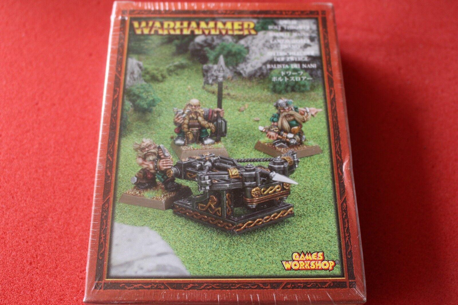 Games Workshop Warhammer Dwarf Bolt Thrower BNIB New Sealed Metal Dwarves OOP