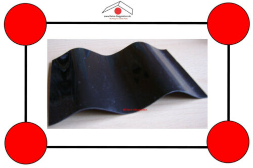 S76//18 hagelfest schwarz Sinuswelle Länge 2-4 m Polycarbonat-Wellplatten