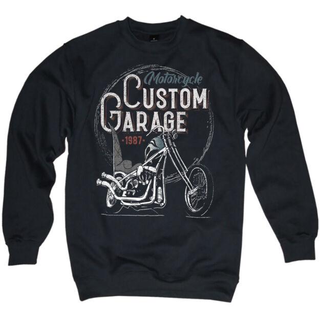 Pull-Biker Custom Bikes Chopper Bobber Old School MC sweater homme s-5xl