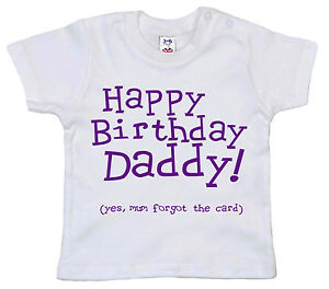 Image Is Loading 034 Happy Birthday Daddy Mum Forgot The Card