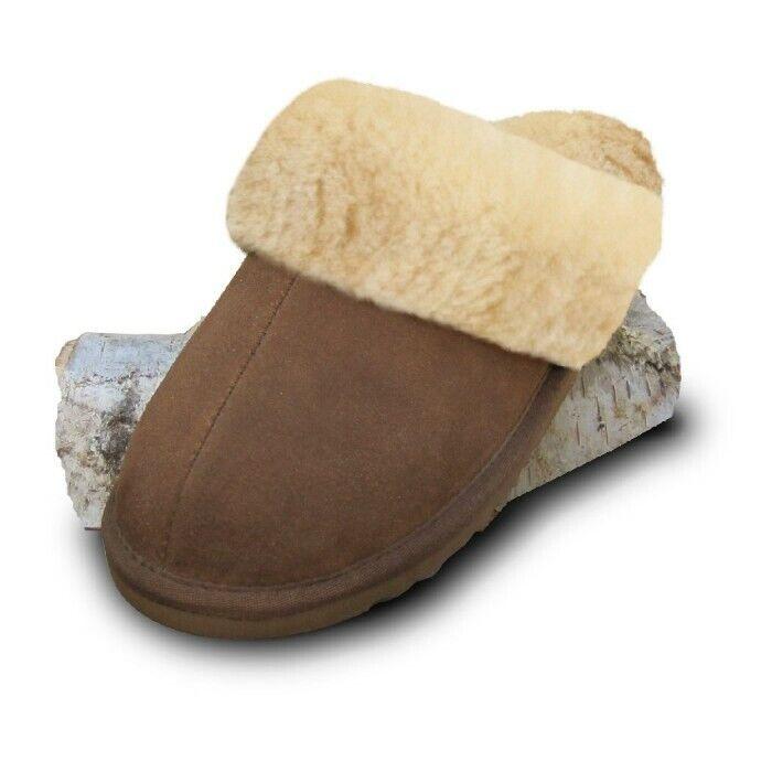 Damen Herren Leder Lammfell Fell  Pantoffeln Slipper Wolle Gr.36  Hauschuhe Neu  | Eleganter Stil