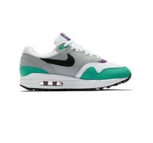 Details about Nike Women's Air Max 1 Shoes White Grape Purple Green Black 319986 115 NEW