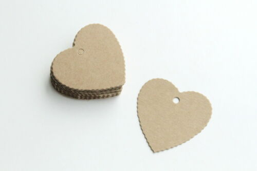 Paper Card Tag Small Heart Shape Kraft Label Blank Pakaging Idea Gift Wrapping