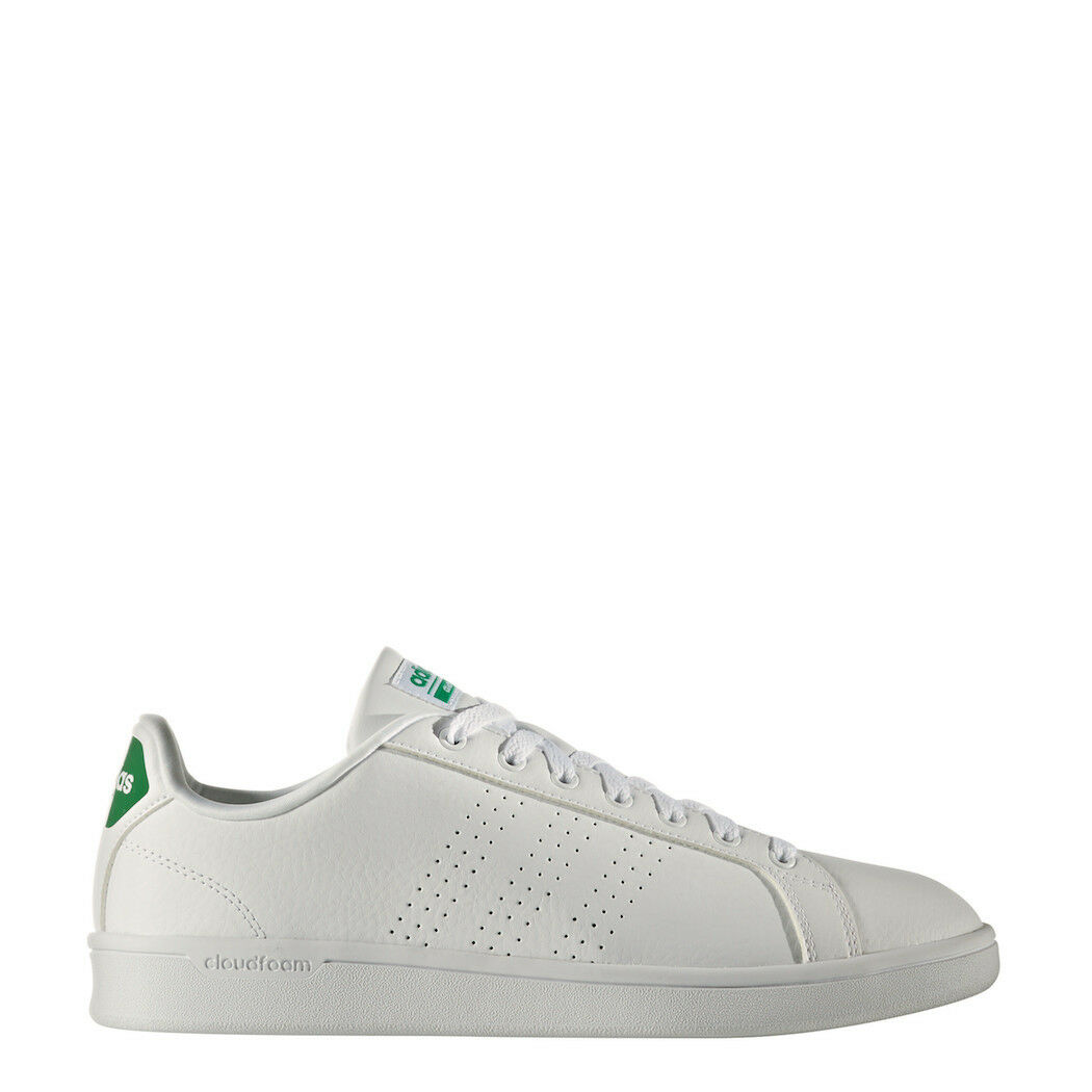 adidas neo Advantage Clean Cloudfoam Sneaker weiß/grün [AW3914]