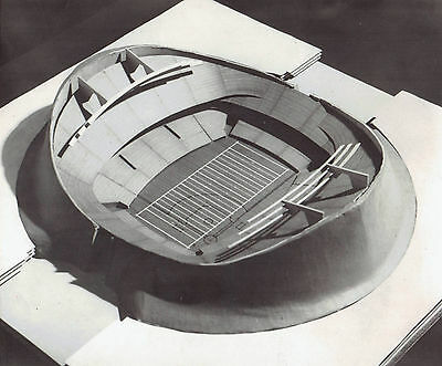 1967 Wire Photo architects model of Louisiana Superdome stadium in New Orleans