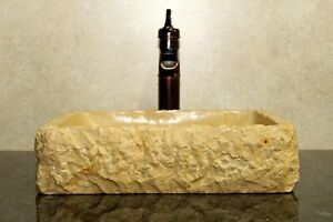 Stone-sink-vessel-sinks-rustic-marble-bathroom