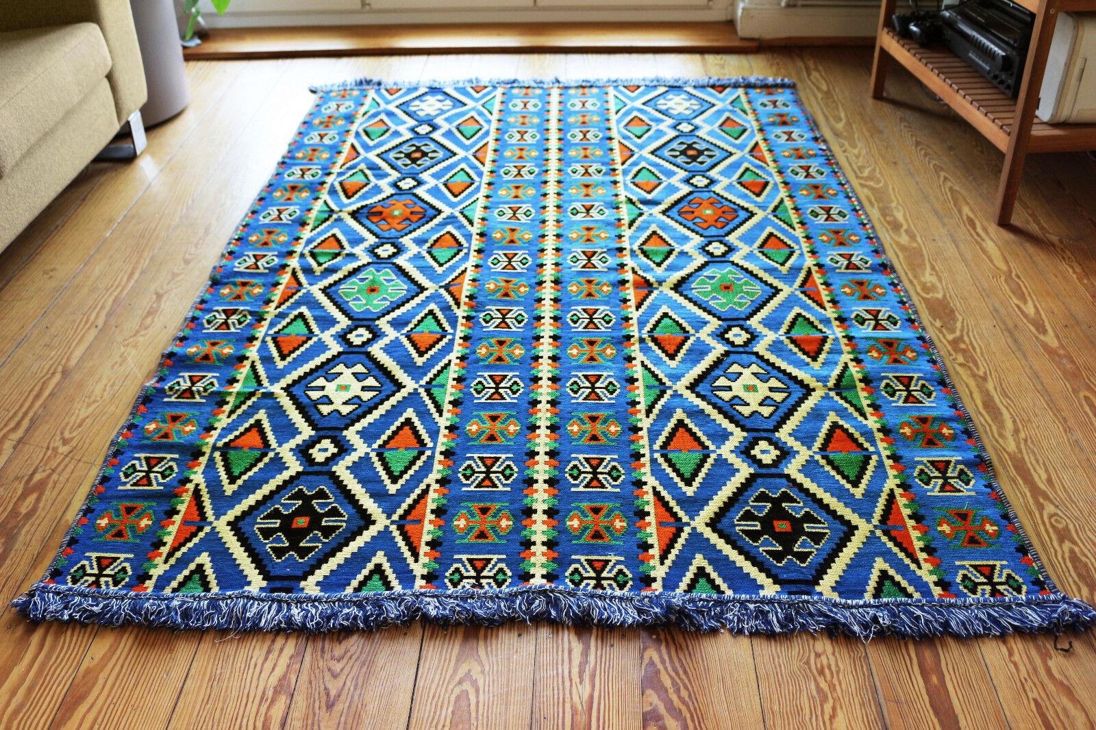 135 cm x 200 cm oriental tapis, kilim, Moquette de damaskunst S 1-4-42