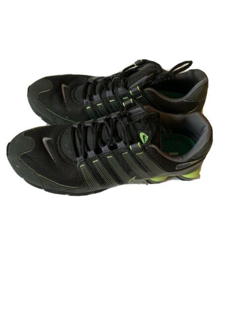 Nike Shox mens size 15 Black With Neon Green