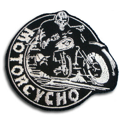 M Size Grim Reaper Skull Devil Patch Iron on Embroidered Harley Chopper Biker MC