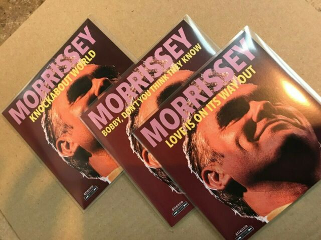 MORRISSEY 3 x CD PROMO'S KNOCKABOUT WORLD LOVE IS ON ITS WAY OUT & BOBBY, DONT