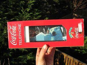 Vintage 1994 COCA-COLA POLAR BEAR TELEPHONE New in the Box.