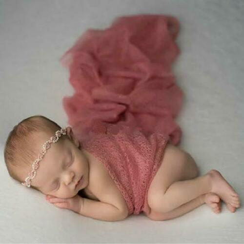 Baby Newborn Stretch Yarn Gauze Wrap Cocoon Photo Photography Ornaments Prop SL