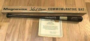 "Vintage Magnavox HANK AARON ""715"" Home Run COMMEMORATIVE Baseball BAT + COA BOX"