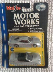 Maisto Motor Works Die-Cast Two Car Pack #18 Mercedes CLK Cabrio CLK-GTR