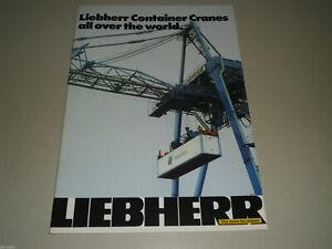 Prospectus Brochure Liebherr Container Cranes T-P-G-Model Stand 08/1979