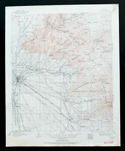 Tucson Arizona Vintage USGS Topo Map 1904 Mount Lemmon Oro Valley ...